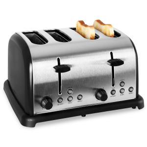 TK-BT-211-S Grille pain toaster 4 tranches 1650w inox -noir Noir