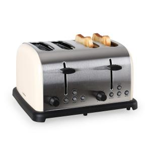 TK-BT-211-C Toaster grille-pain 4 tranches 1650w inox -crème Crème