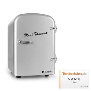 Mini Taverna réfrigérateur à boissons conservation chaud/froid 4l -argent Argent