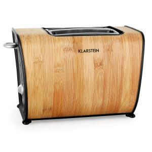 Klarstein Bamboo Garden Grille-pain 870W double fente bambou