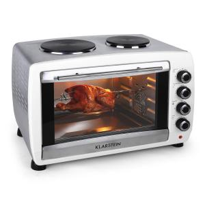 Omnichef Mini four 2 plaques de cuisson grill & broche 2000w 45L blanc Blanc