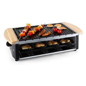 Grill raclette avec plaque et broches 8 personnes