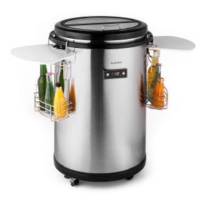 Mr. Barbot Réfrigérateur bar sur roulettes 50L classe A+ acier