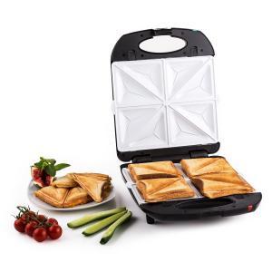 Trinity Sandwich Maker 3-en-1 XXL 1300 W -noir Noir