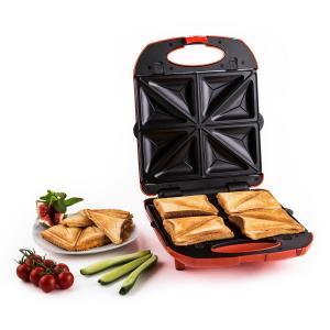 Trinity Sandwich Maker 3-en-1 XXL 1300 W -rouge Rouge
