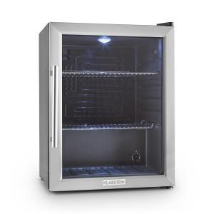 Beersafe XL Réfrigérateur 60 litres porte en verre 2 étages Classe A++ Argent |