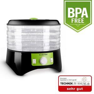 Appleberry Déshydrateur 400W 4 étages sans BPA -noir/vert