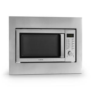Steelwave four micro ondes 23L 800W grill 1000W acier + set encastrement