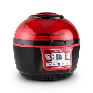 VitAir Turbo friteuse à air chaud 1400W grill cuisson 9L - rouge/noir Rouge