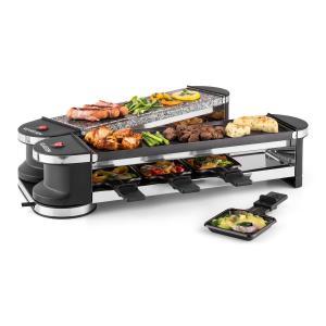 Tenderloin 50/50 Raclette-grill 1200W 8 personnes Pierre naturelle
