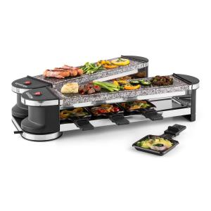 Tenderloin 100 Raclette-grill 1200W 8 personnes 2x plaques en pierre naturelle