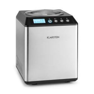 Vanilla Sky Machine à crème glacée compresseur 2l 180W acier -argent Argent