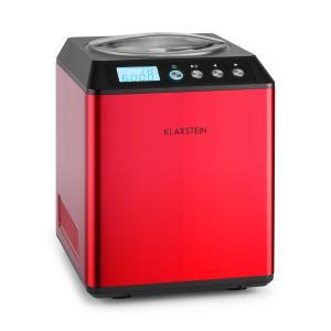Vanilla Sky Machine à crème glacée compresseur 2l 180W acier -rouge Rouge