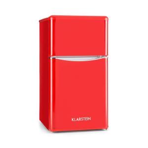 Monroe Red Réfrigérateur/congélateur 61/24l Classe A+ Look rétro – rouge Rouge