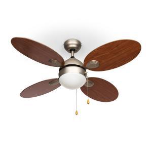 """Valderama Ventilateur de plafond 42"""" 60W Lampe de plafond 2x43W -cerisier"""