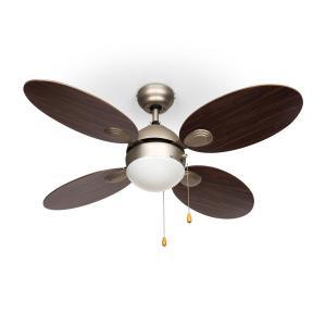 "Valderama Ventilateur de plafond 42"" 60W Lampe de plafond 2x43W -Palissandre"