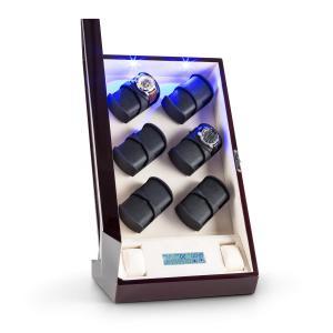 Klingenthal Remontoir luxe 12 montres LED tactile - acajou Acajou