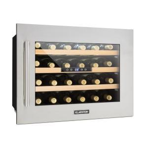 Vinsider 24D Cave à vins Encastrable 1 zone de fraîcheur 24 bouteilles Inox