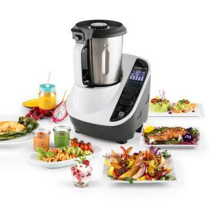 Food Circus Robot de cuisine Cuiseur vapeur 10 programmes 500/1100 W - blanc Blanc