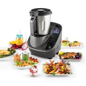 Food Circus Robot de cuisine Cuiseur vapeur 10 programmes 500/1100 W - gris Gris