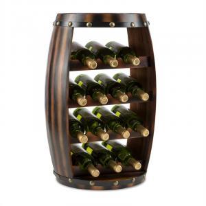 Barrica Etagère casier forme tonneau pour 14 bouteilles de vin - Bois