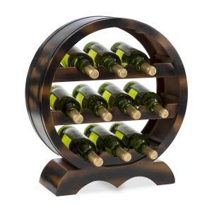 Barrica Etagère casier pour 10 bouteilles de vin  - bois d' épicea