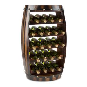 Barrica Etagère casier forme tonneau pour 22 bouteilles de vin - bois