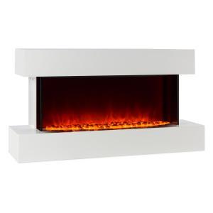 Studio-2 Cheminée électrique Simulation de flammes LED 1000/2000W 40m² - blanc