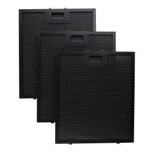 Set 3 filtres de rechange en aluminimum pour hotte 26,5 x 31cm - noir