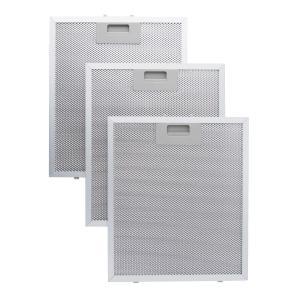 Set 3 filres à graisse en aluminium pour hotte de cuisine 26 x 32cm