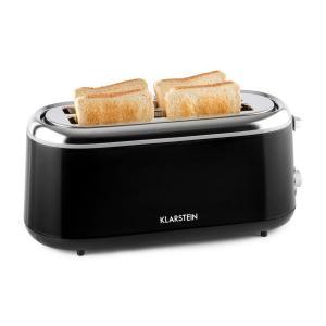 Elox Grille-pain rétro à fentes longues  1300 W 7 degrés de cuisson noir