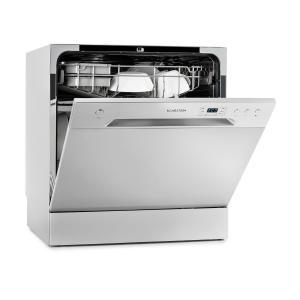 Amazonia 8 Mini Lave-vaisselle de table 6 programmes 1620W A+ gris Argent