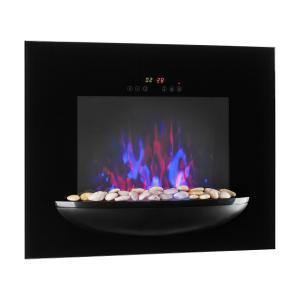 brasero cheminée murale électrique 1800 W simulation de flammes - noir