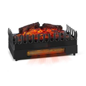 Kamini FX Cheminée électrique chauffage 1000 / 2000W 2W LED - noir