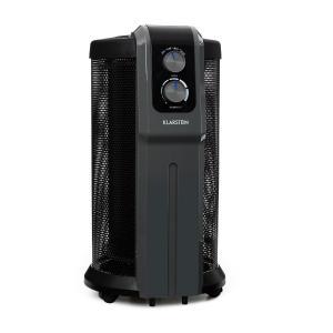 Datscha A Radiateur à thermostat sur roulettes 2000W - noir & gris