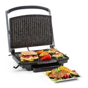 Edelstein Grill multifonction presse à paninis 2000W 240 °C - inox noi Noir