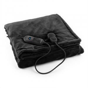 Dr. Watson XL Couverture chauffante 120W 180x130cm microfibre - noir