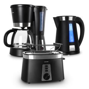 Sunday Morning Set petit-déjeuner noir Bouilloire + Toaster + Cafet