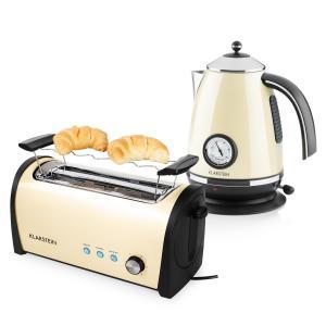 Set petit-déjeuner Bouilloire 2200 W Grille-pain 1400 W - crème/beige