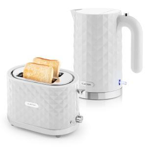 Set petit-déjeuner Bouilloire 2000 W + Grille-pain 1000 W - blanc