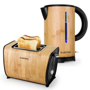 Bamboo Garden Set de petit-déjeuner Bouilloire + Grille-pain - Bambou