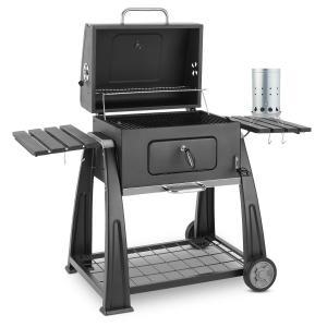 Bigfoot Set Barbecue à charbon de bois BBQ Fumoir + allume-feu électrique