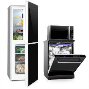 Set Combi Réfrigérateur Frigo Congélateur Micro-ondes Lave-vaisselle