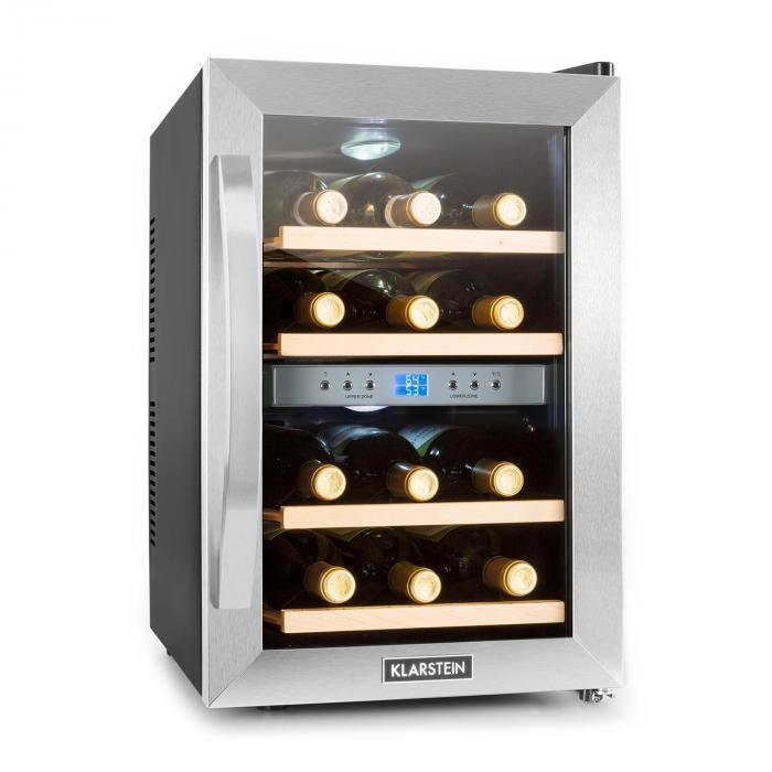 cave vin r frig r e 34l 12 bouteilles clairage led classe b klarstein. Black Bedroom Furniture Sets. Home Design Ideas