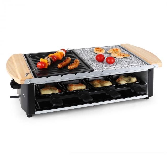 Grill raclette avec pierre et broches 8 personnes