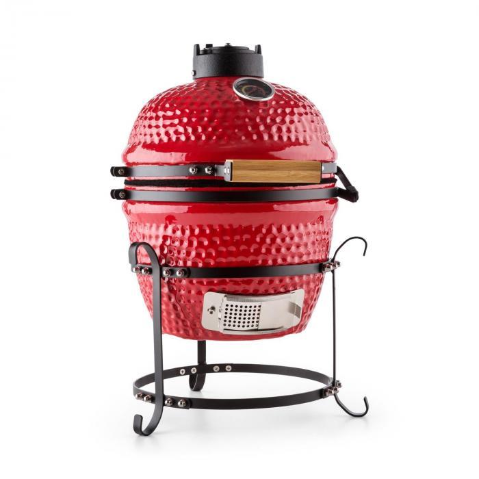 """Klarstein Princesize Kamado grill en céramique 11"""" BBQ - rouge Rouge. Découvrez le barbecue Kamado en céramique qui"""