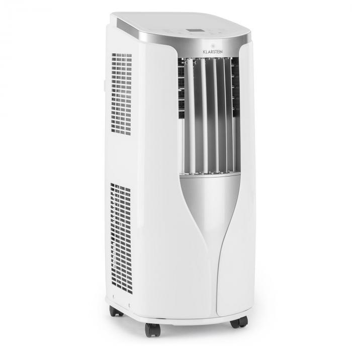Klarstein New Breeze 7 Climatiseur 7000 BTU Classe A télécommande -noir Blanc. Les températures idéales ne sont plus le fa