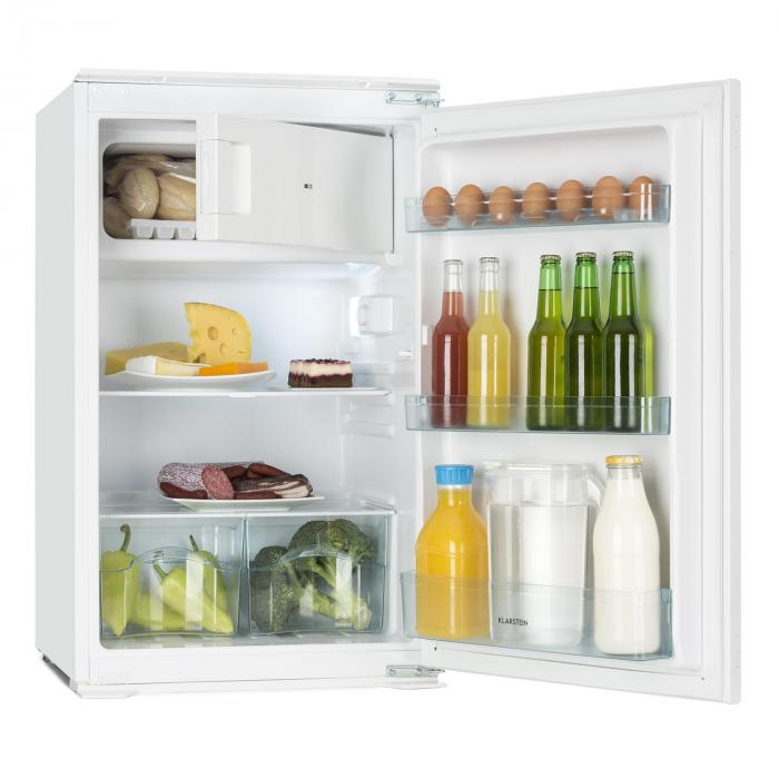 Einbaukühlschrank 120 Cm : coolzone 120 r frig rateur encastrable 105l freezer 15l classe a blanc klarstein ~ Markanthonyermac.com Haus und Dekorationen