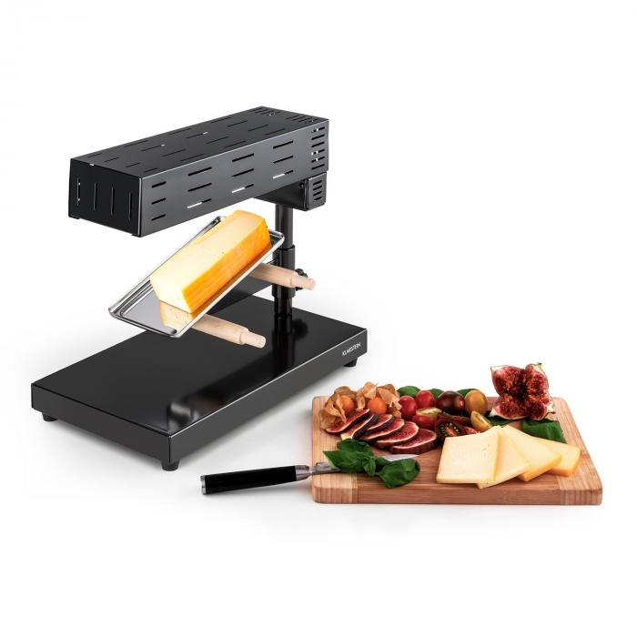 appenzell 2g appareil raclette traditionnel sur pieds 600 w noir klarstein. Black Bedroom Furniture Sets. Home Design Ideas