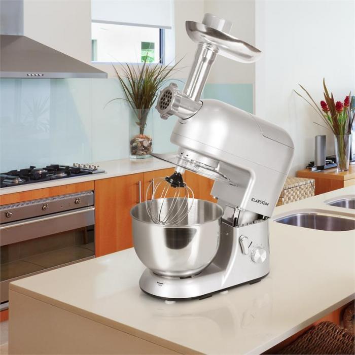 Lucia argentea robot de cuisine p trin mixeur hachoir for Robot de cuisine petrin
